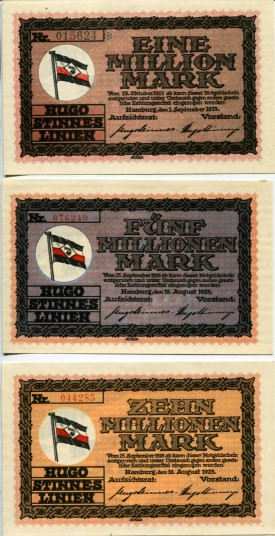 Privately issued banknotes from German Inflationary period of August - September 1923