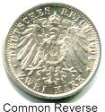 Common reverse of German States 2 Mark