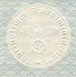 Embossed Nazi Emblem on 1942 German Bonds