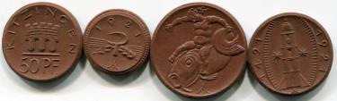 Germany porcelain coins, circa 1921-1922