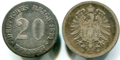 Weimar AU-XF PRE-NAZI 1923-D GERMAN 200 MARK COINS MUNICH