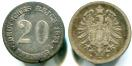 Germany 20 Pfennig coin KM5