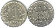 Nazi Germany 1 Reichsmark coin KM78