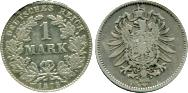 Germany 1 Mark 1873-1887 KM7