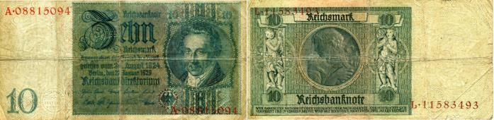 Germany 10 Reichmark note 1929 P180