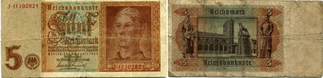 Germany 5 Reichsmark note, 1942 P186
