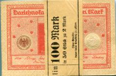Original pack of 50 pieces of Germany 2 Mark banknote, March 1, 1920, P59