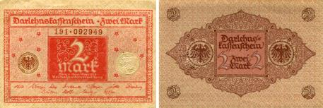 Germany 2 Mark banknote, March 1, 1920, P59
