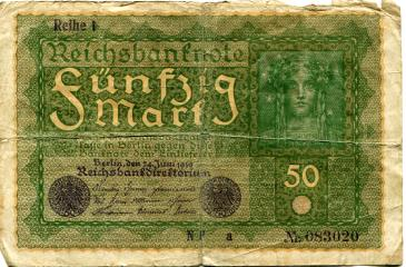 Germany 50 Mark banknote 1919 P66