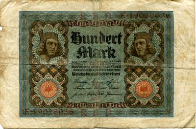 Germany 100 Mark note, 1920