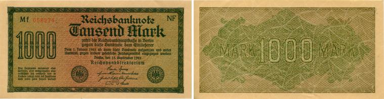 Germany 1000 Mark note 1922 P76