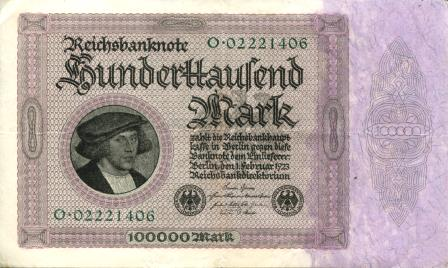 Germany 100,000 Mark note 1922 P83