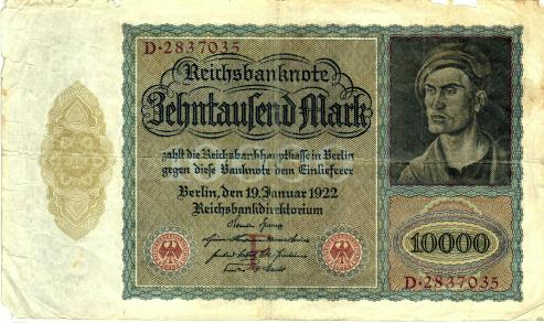 Germany 10000 Mark 1922 Vampire Note