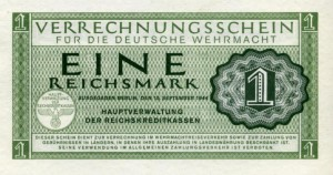 German Wehrmacht military currency, 1 Reichsmark 1944 PM438