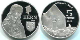 Herm Isalnd 5 Pounds 2016 Proof