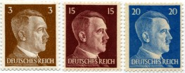 Germany postage stamps picturing Adolf Hitler
