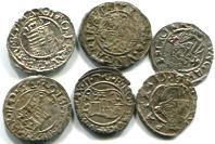 Hungary silver Denars of Hapsburg Emperors Ferdinand, Maximilian II and Rudolf