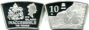 Inaccessible Island 10 Pounds 2019 coin