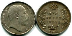 India 1 Rupee Edward VII KM508