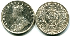 India silver Rupee of George V KM524