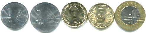 India coin set 1 to 10 Rupees
