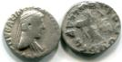 Indo-Greek silver Drachm of Apollodotus II, 80-65BC