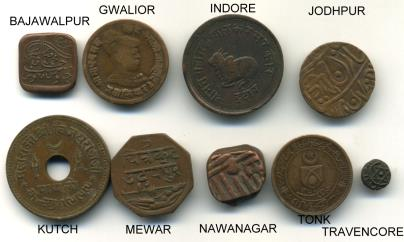 Indian States coin collection