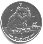 ISLE OF MAN, MAINE COON CAT CROWN 1993 KM355