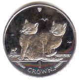 Isle of Man 2003 Balinese Cat coin