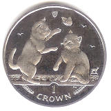 Isle of Man 2004 Tonkinese Cat coin