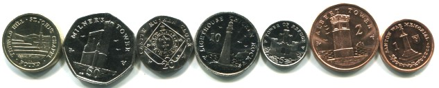 Isle of Man coin set 1 Pence - 1 Pound