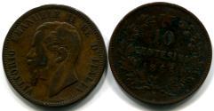 Italy 10 Centesimi of Vittorio Emanuele II