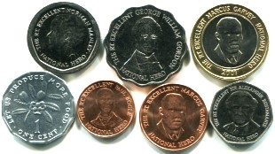 Jamaica coin set