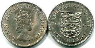 Jersey 5 Shillings 1966 Norman Conquest KM28