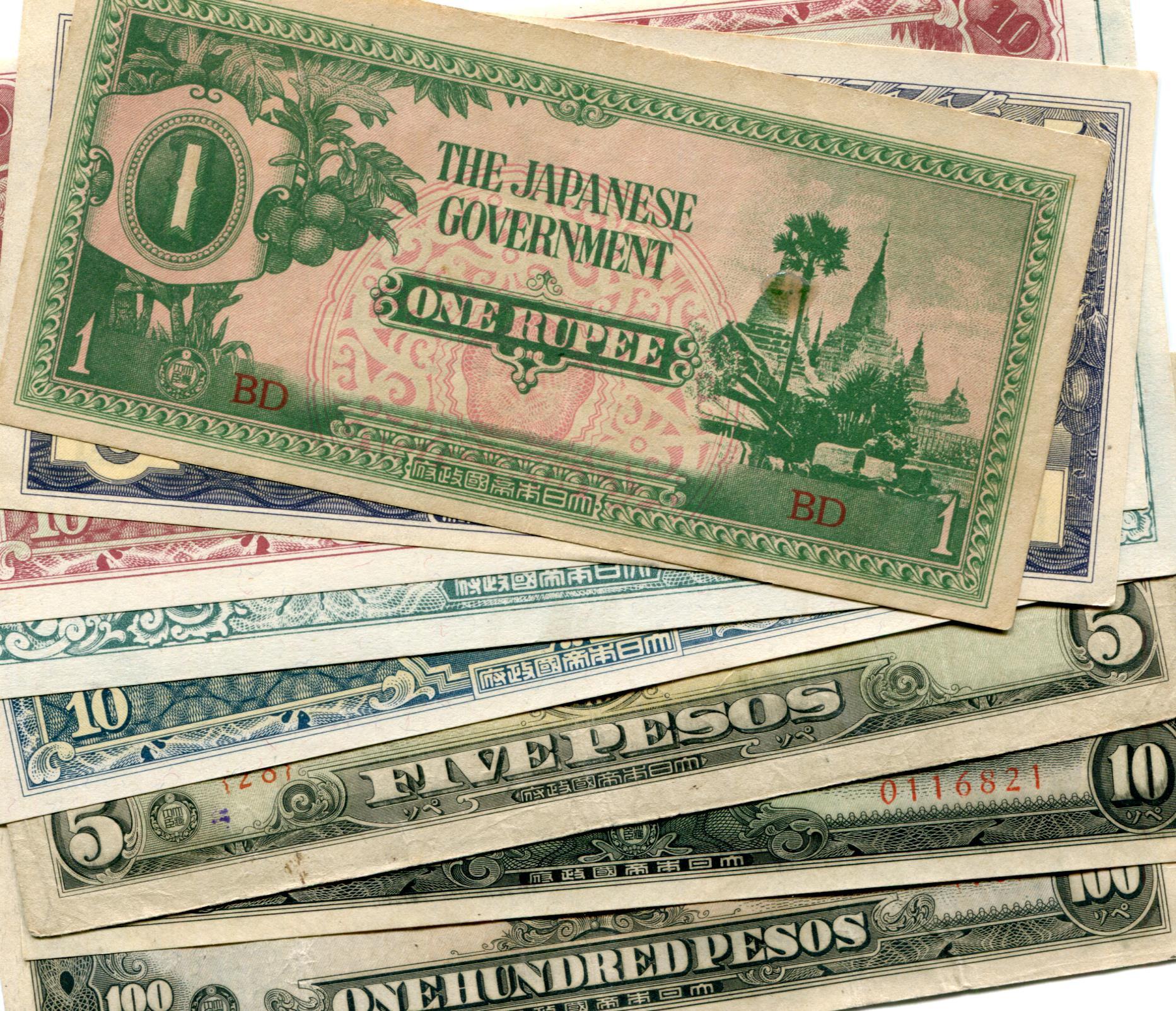World War Ii Anese Invasion Money