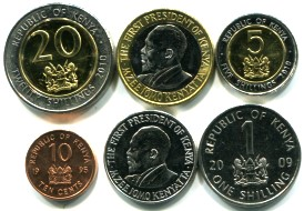 Kenya 6 coin set
