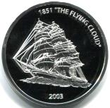 Liberia 10 Dollars 2003 sailing ship Flying Cloud