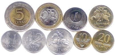 Lithuania coin set