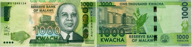 Malawi 1000 Kwacha 2014 50th Anniversary of Independence