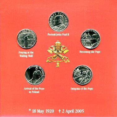 Order of Malta 5 coin set in folder