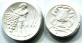 Meissen Germany porcelain 30 and 50 Pfennig coins