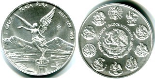 Mexico 2017 1 troy ounce .999 fine silver Libertad