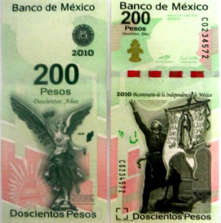 Mexico 200 Pesos 200th Anniversary of Mexican Independence (2010)