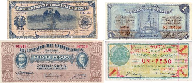 Mexican revolution currency