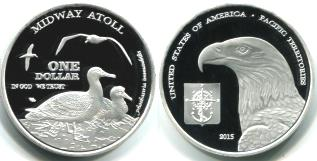 Midway Atoll 1 Dollar 2015