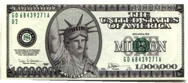 1,000,000 Bill,... $1000000 Bill
