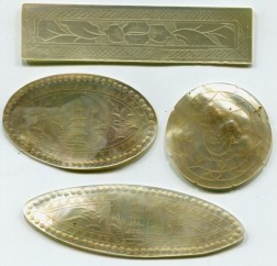 Chinese Mother of Pearl Gambling tokens