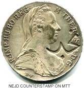 Nejd counterstamp on Maria Theresa Thaler