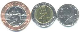 Nigeria 2006 3 coin set