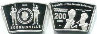 North Solomons 200 Bou 2020 coin